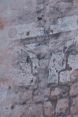 Fotobehang Oude vuile getextureerde muur st. George church, Orthodox, Famagusta, Cyprus
