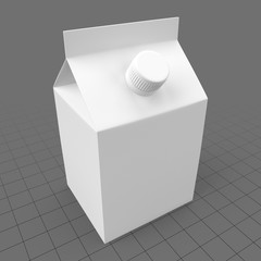 Small carton with plastic cap