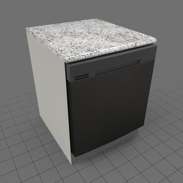 Kitchen countertop dishwasher