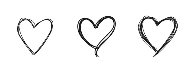 Heart doodle. Hand drawn love symbol.