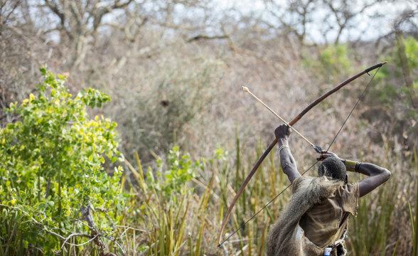 zabe hunter in a african bush