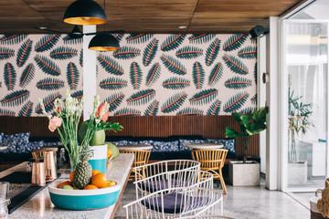 Stylish Bar in Beautiful Tropical Beach Club