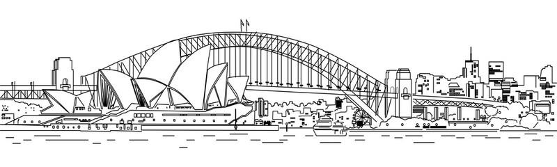 Fototapeta premium Sydney City Line