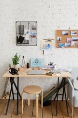 Workspace of artist