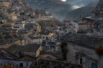 Foggy morning at Sassi di Matera