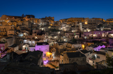 Twilight at Sassi di Matera