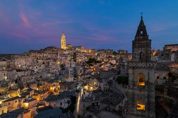Panoramic view of Chiesa San Pietro Barisano - Matera