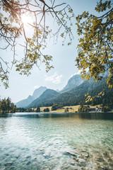 Wall Mural - Famous lake Hintersee. Location resort Ramsau, National park Berchtesgadener Land, Upper Bavaria, Germany Alps, Europe.