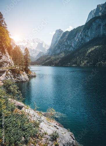 壁紙(ウォールミューラル) Vorderer Gosausee lake. Salzkammergut is a famous resort area located in the Gosau Valley in Upper Austria.