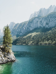 Wall Mural - Vorderer Gosausee lake. Salzkammergut is a famous resort area located in the Gosau Valley in Upper Austria.