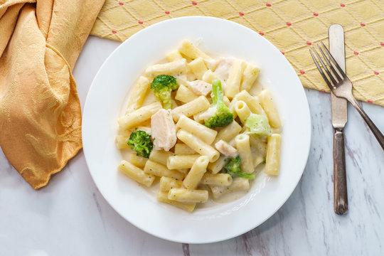 Italian Rigatoni Chicken Alfredo