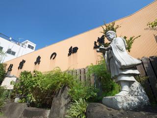 北千住 矢立て初の芭蕉像