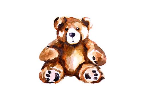 Childhood toy, teddy bear.