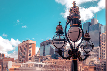 Victorian era lamp post in Melbourne, Australia