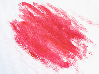 Red watercolor on a white background