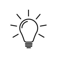 Light bulb line icon vector. Flat lamp sign. Modern idea symbol.