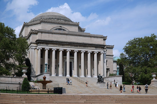 NEW YORK - JULY 2017:  Columbia University,  located in the north end of Manhattan, is one of the most highly regarded in the United States.