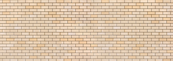 Panoramic light brick wall pattern