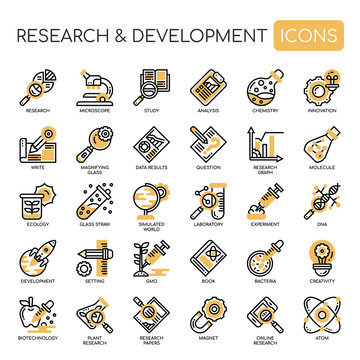 Research and development , Thin Line and Pixel Perfect Icons