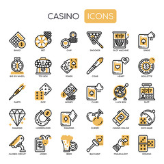 Casino , Thin Line and Pixel Perfect Icons