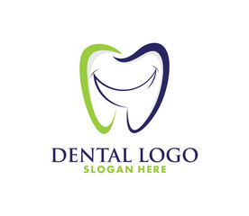 Dentist Logo tooth shape design vector template...Dental Clinic