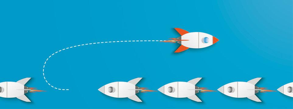 Turnaround Rocket Innovative Startup Blue Header