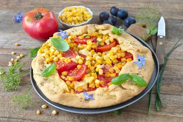 Tomaten-Mais-Galette