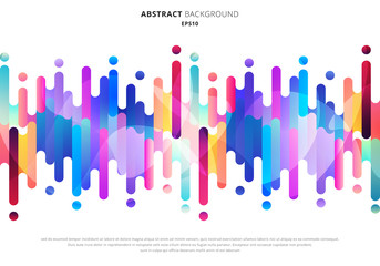 Abstract fluid or liquid colorful rounded lines transition elements on white background with space for your text.
