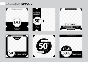 Editable Post Template Social Media Banners for Digital Marketing. Promo Brand Fashion. Stories. Streaming. Vector Illustration. Banner for sale.