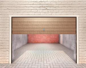 Wall Mural - Empty garage, look outside