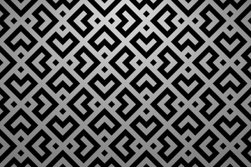 Foto op Canvas Geometrisch Abstract geometric pattern. A seamless vector background. Black and grey ornament. Graphic modern pattern. Simple lattice graphic design