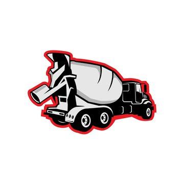 Concrete truck line icon concept. Concrete truck vector linear illustration, symbol, sign