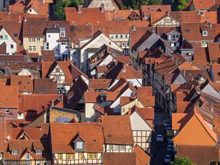 Hausdächer der historischen Altstadt von Hann. Münden