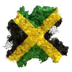 Jamaica flag liquid
