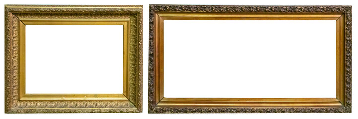 Antique gold antique picture frames