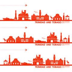 Wall Mural - Trinidad and Tobago travel destination grand vector illustration.