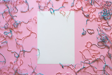 wallpaper with candy on a pink background with a white sheet