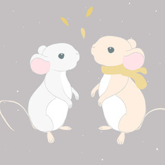 couple of little cute mouses