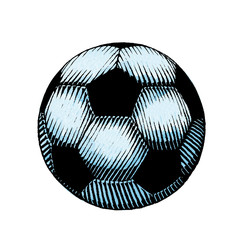 Ink and Watercolor Sketch of a Soccer Ball