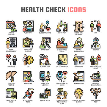 Health Check , Thin Line and Pixel Perfect Icons