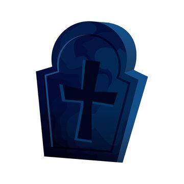 halloween tomb of cemetery icon