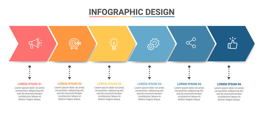Business data visualization.Steps  Process chart. Abstract elements of graph, diagram with steps, options, parts or processes. Vector business template for presentation Vector Design