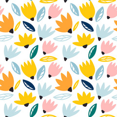 Trendy seamless vector floral pattern. Perfect for desktop wallpapers.