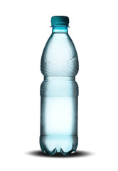 small plastic bottle of mineral water