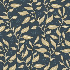 Natural floral farmhouse style seamless patterns for kitchenware and homeware, fabric and stationery design and decoration