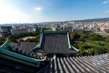和歌山城天守閣からの風景