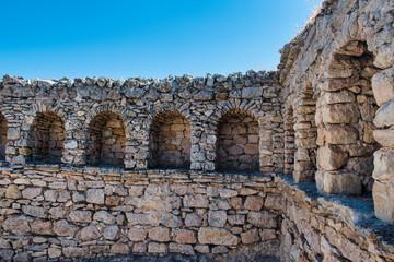 Restos de pared de foto romano