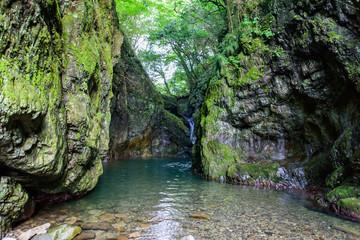 写真素材:日本、四国、香川、美霞洞渓谷、みかど渓谷