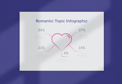 Infographic Flyer Layout with Heart