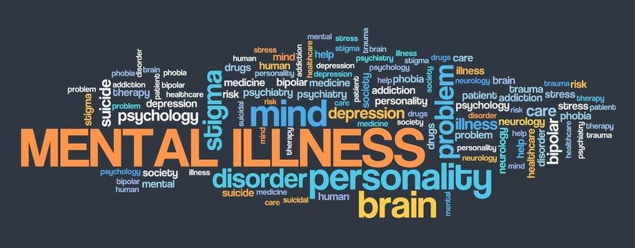 Mental illness words